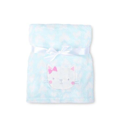 Ricco gyermek takaró, kiscicás, 75 x 100 cm