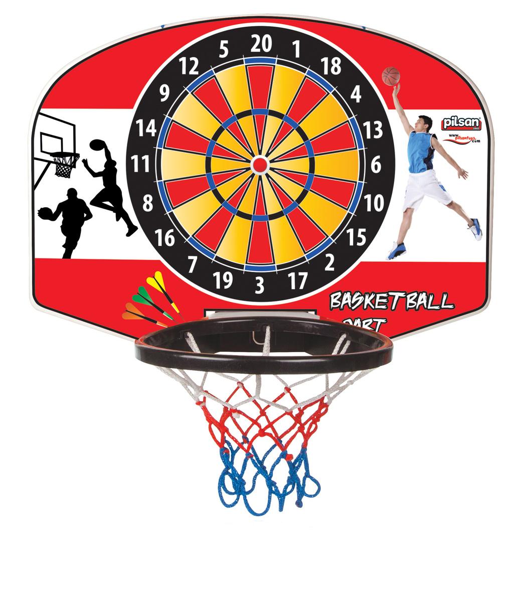 Pilsan Basketbalová deska s terčem červená, 55 x 44 cm
