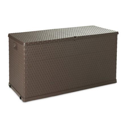 Rattan záhradný úložný box hnedá
