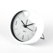 Budzik Round biały, śr. 9,2 cm