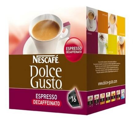 Kapsle Dolce Gusto, bez kofeinu, 16 ks, Nescafé
