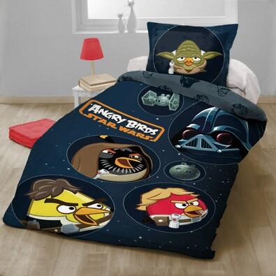 Dětské bavlněné povlečení Angry Birds Star Wars, 140 x 200 cm, 70 x 90 cm