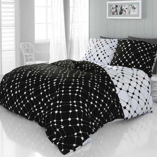 Infinity szatén ágyneműhuzat fekete-fehér, 200 x 200 cm, 2 ks 70 x 90 cm