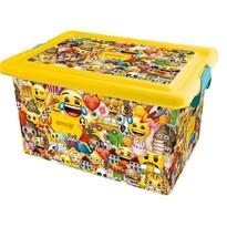 STOR Dekoračný úložný box Emoji, 13 l