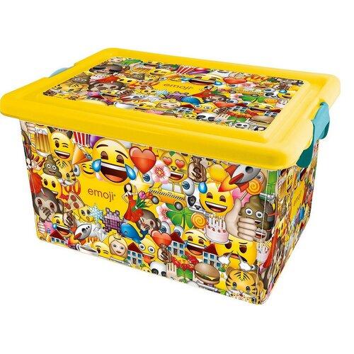 STOR Dekorační úložný box Emoji, 13 l