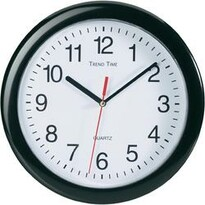 Analogové nástěnné hodiny černá