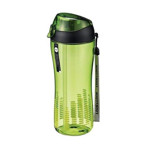 LOCK&LOCK športová fľaša so silikónovým slamkou zelená