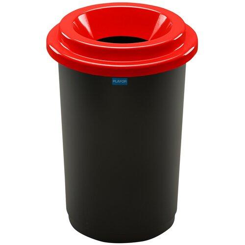 Coș de sortare deșeuri Eco Bin, 50 l, roșu