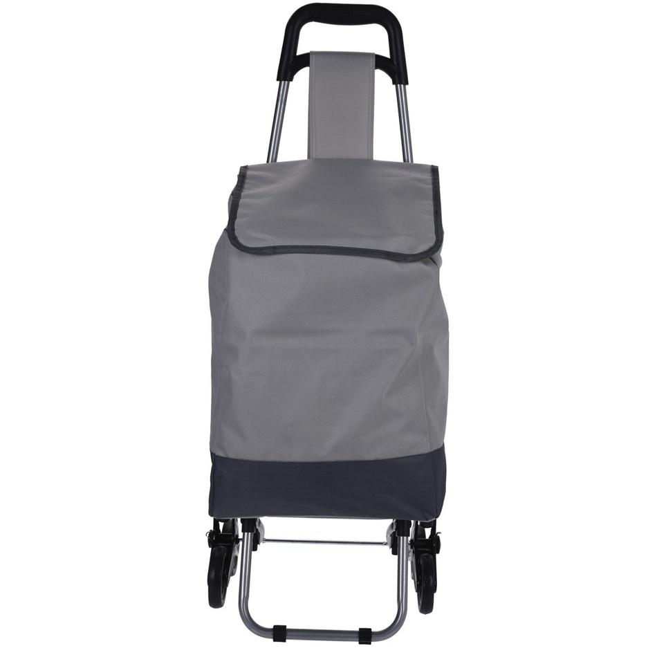 Nákupná taška na kolieskach Mindelo, sivá