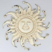 Decorațiune metalică de perete Soare, 50 x 50 x 3 cm