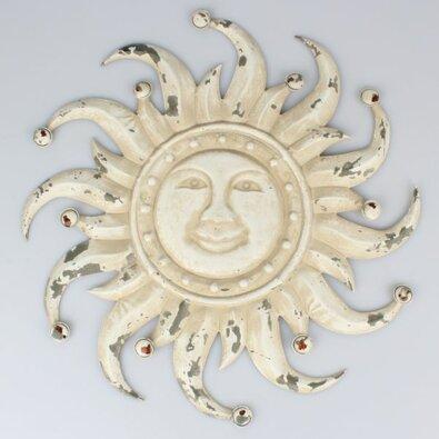 Dekoracja metalowa na ścianę Słońce, 50 x 50 x 3 cm