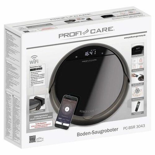 ProfiCare PC-BSR 3043 robotický vysávač WiFi, čierna