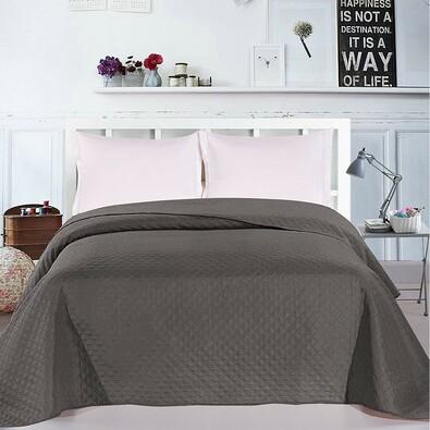 DecoKing Prehoz na posteľ Adam sivá, 220 x 240 cm