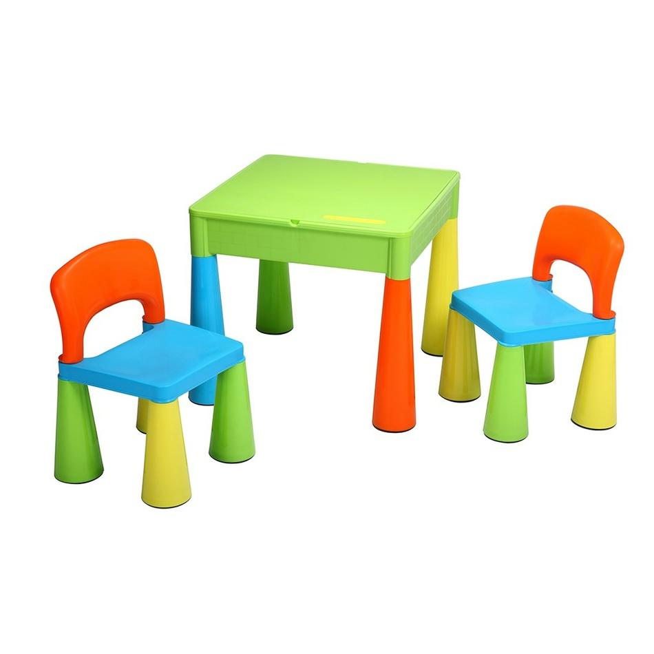 New Baby Detská sada stolčeka a stoličiek 3 ks, farebná