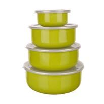 Banquet Belly 8 részes zománcozott tálkakészlet, zöld
