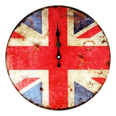 Nástěnné skleněné hodiny Anglie 34 cm