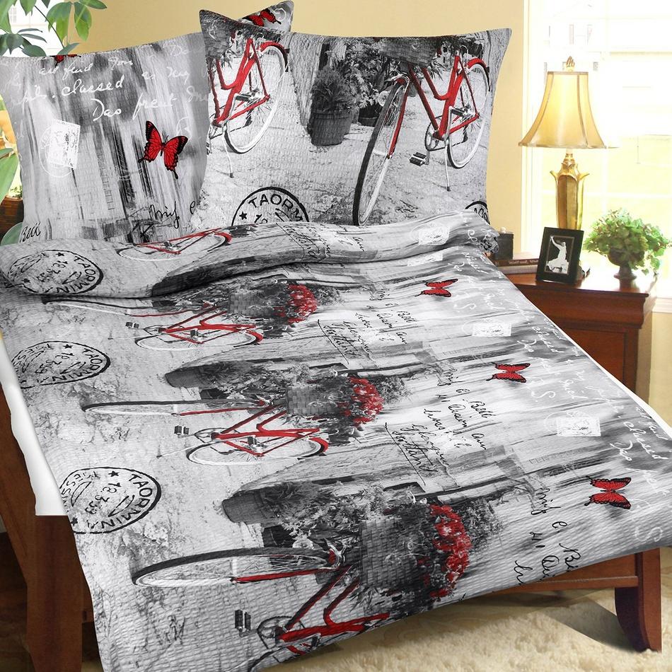 Bellatex Povlečení bavlna 90/511 romantika, 140 x 220 cm, 70 x 90 cm
