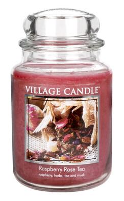Village Candle Vonná svíčka Maliny a čajová růže  - Raspberry Tea Rose, 645 g