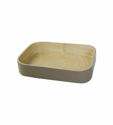 Bambusový organizér na kuchyňské doplňky Compactor 31.5. X 22.5 X 6 cm, lesklý lak Taupe