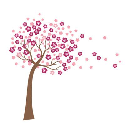 Samolepicí dekorace Kvetoucí strom