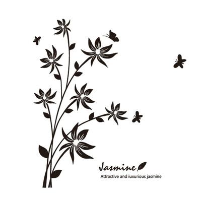 Samolepicí dekorace jasmine
