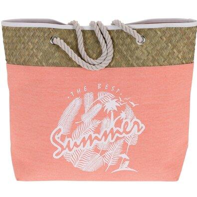 Plážová taška The best summer, ružová