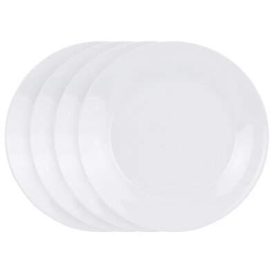 White 4 részes sekélytányér készlet, 24 cm