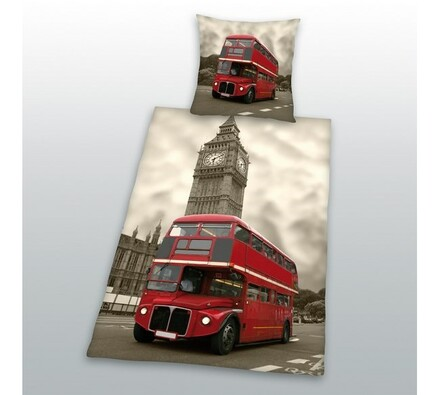 Bavlněné povlečení Double Decker, 140 x 200 cm, 70 x 90 cm