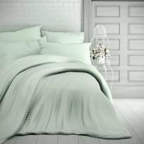 Stripe szatén ágynemű, menta