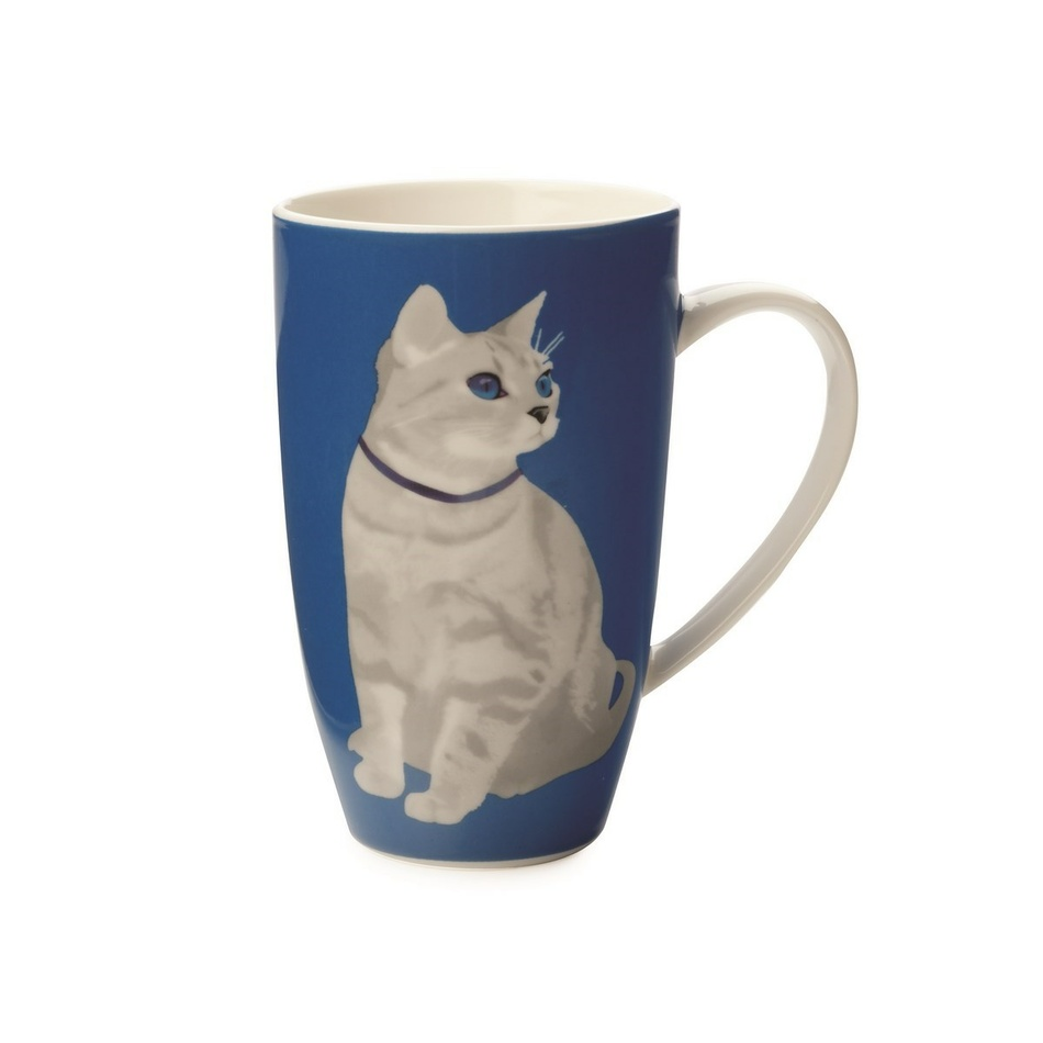 Maxwell & Williams Claws Coupe Mug Hrnek, modrá,