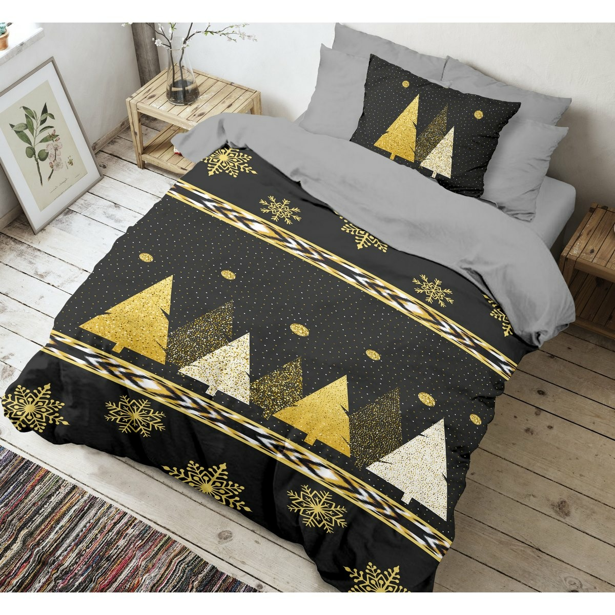 Kvalitex Bavlnené obliečky Silent night 3D, 140 x 200 cm, 70 x 90 cm