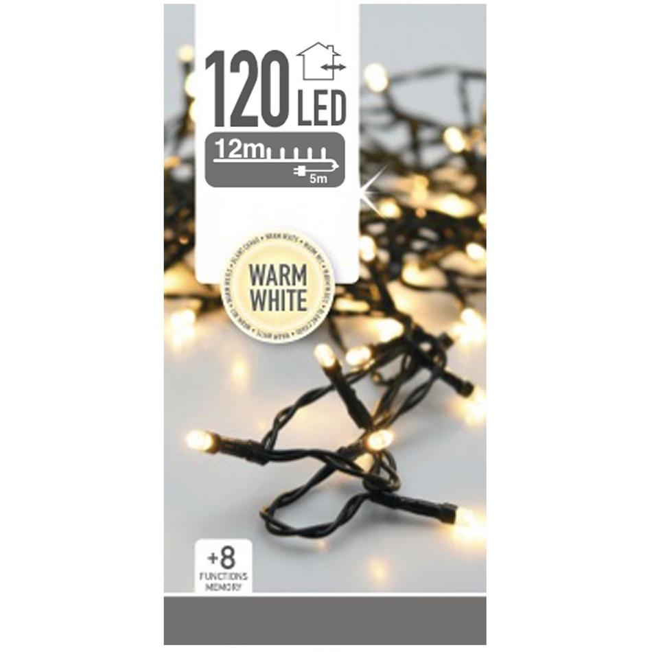 Vánoční světelný LED řetěz, 120 LED
