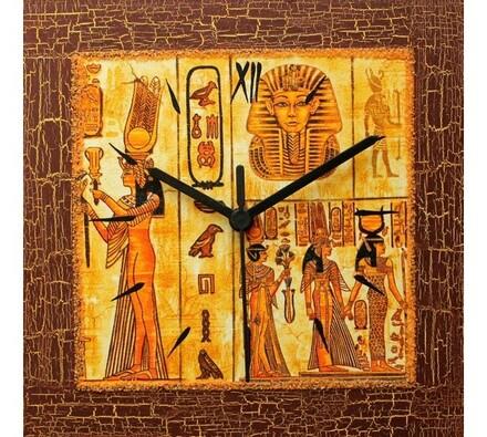 Nástenné hodiny Egyptský pergamen