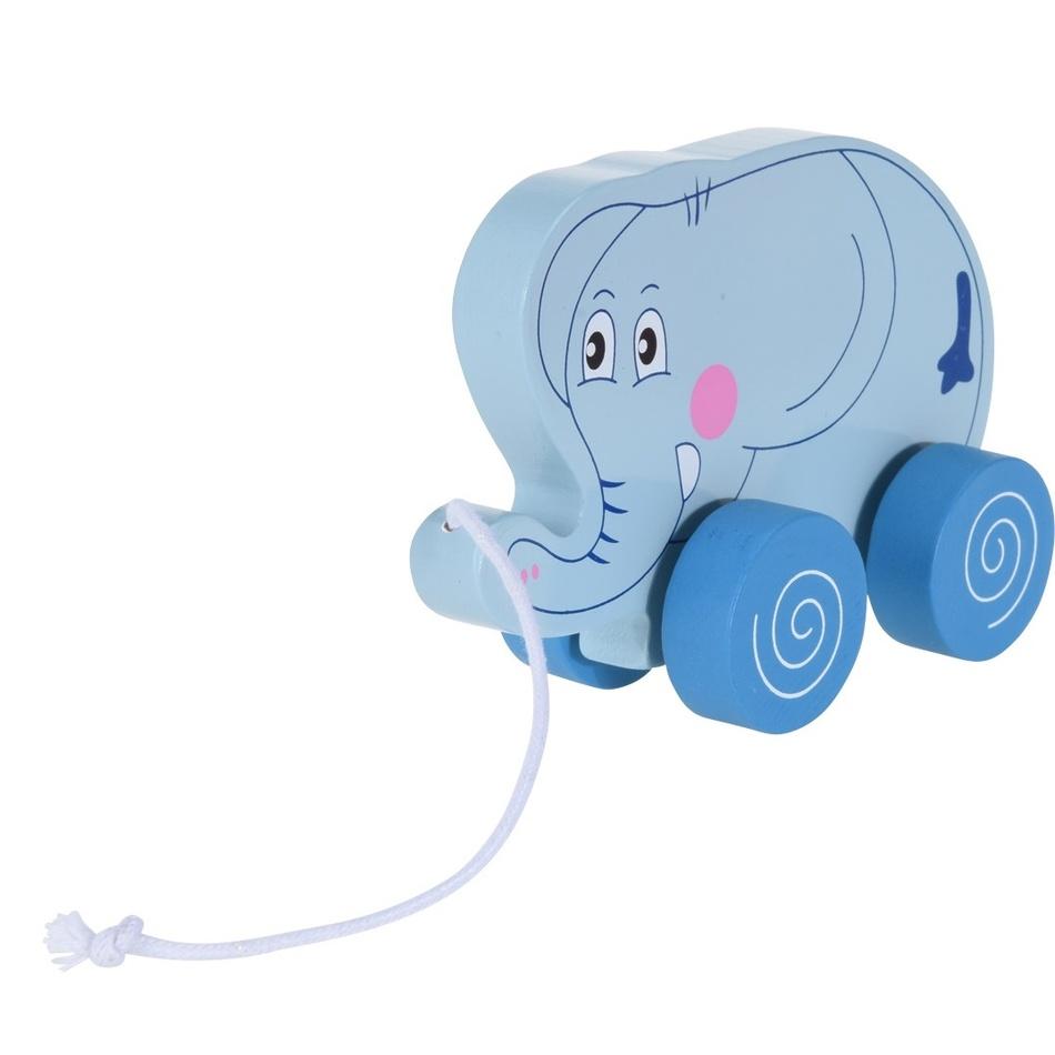 Koopman Dětský tahací sloník, 15 cm