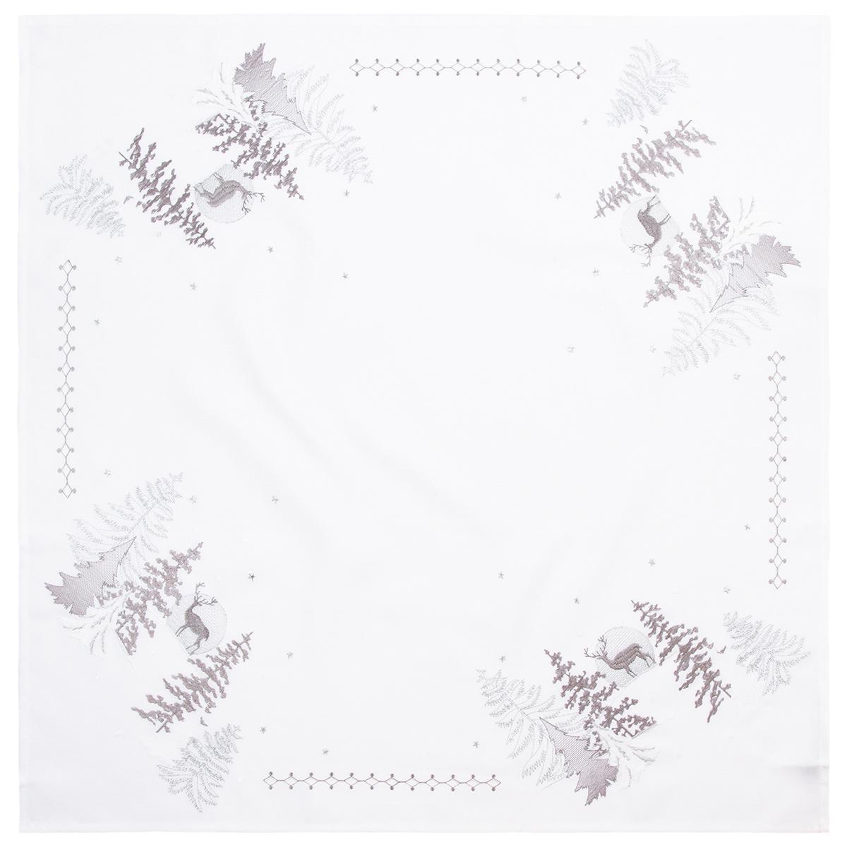 Altom Vánoční ubrus Stromky stříbrná, 80 x 80 cm
