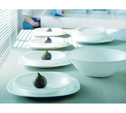 Luminarc 18dílná jídelní sada CARINE WHITE