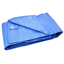 GEKO Płachta ochronna nieprzemakalna z oczkami Standard niebieski, 12 x 15 m