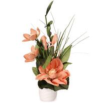 Aranžmá Magnólia v kvetináči ružová, 50 cm