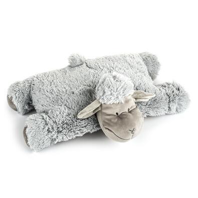 Polštářek Ovečka suchý zip šedá, 52 x 38 cm