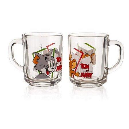 Skleněný hrnek Tom&Jerry 2 ks