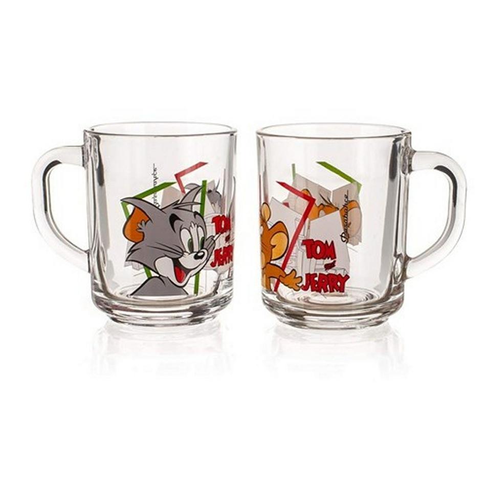 Tom & Jerry Sklenený hrnček 2 ks, 250 ml