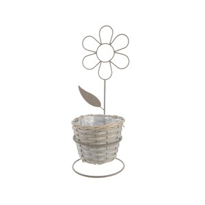 Proutěný květináč Květina, 43 cm