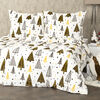 Lenjerie pat 1 pers. 4Home Nordic Tree microflanel