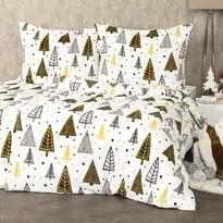 Lenjerie pat Crăciun 4Home Nordic Tree microflanel