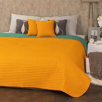 4Home Narzuta na łóżko Doubleface pomarańczowy/zielony, 220 x 240 cm, 2 szt. 40 x 40 cm