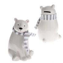Ceramiczna skarbonka dekoracyjna Niedźwiedź, 15,5 cm