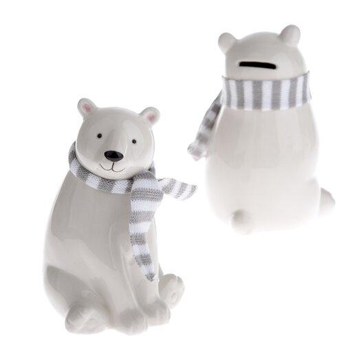 Keramická dekorační kasička Medvěd, 15,5 cm