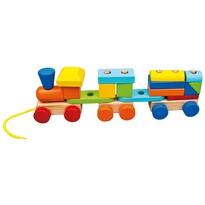 Bino Kolorowy pociąg z dwoma wagonikami