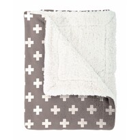 Mistral Home Cross bolyhos takaró, barna, 130 x 170 cm