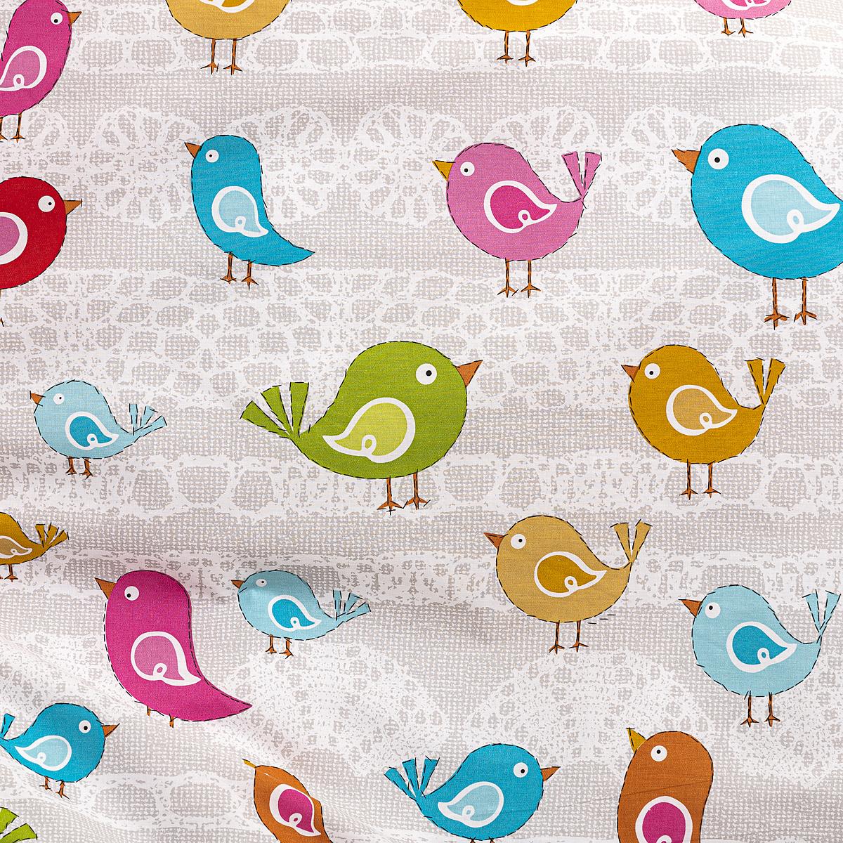 Produktové foto Dětské bavlněné povlečení do postýlky Ptáčci, 90 x 140 cm, 45 x 65 cm